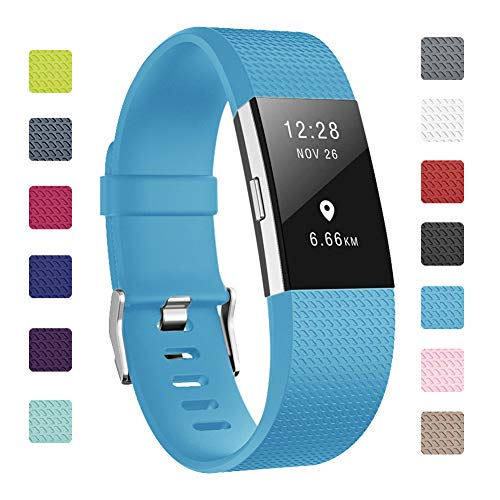Soulen Bands Compatible With Fitbit Charge 2 , Classic & Special Edition Replacement Band Fitbit Charge 2,Large Small,Women Men