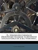 Fl. Merobaudis Carminum Oratonisque Reliquiae Ex Membranis Sangallensibus Ed. a B. G. Niebuhrio..., Flavius Merobaudes, 1270887939