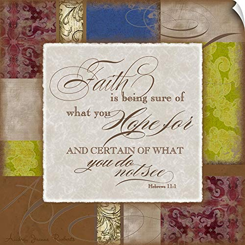 Canvas on Demand Audrey Roberts Wall Peel Wall Art Print entitled Faith with verse 48''x48'' by Canvas on Demand