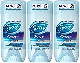 Secret Outlast Antiperspirant and Deodorant Clear Gel, Completely Clean - 2.6 Oz Each, Pack of 3
