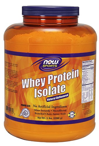 (NOW Sports, Whey Protein Isolate Powder, Unflavored,)