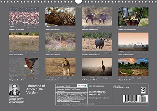 I dreamed of Africa / UK-Version 2015: On safari with Thomas Herzog (Calvendo Animals)