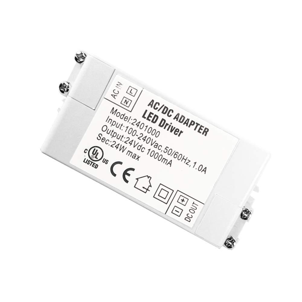 2-Paquet Prime Transformateur Pilote LED dIP44 24V 1A 24W de Basse Tension dalimentation /à d/écoupage AC//DC YAYZA