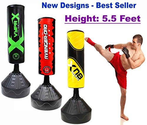 Freistehend Boxsack 5,5ft schwere Boxen Kick Training MMA Muay Thai Martial Arts B-Serie, grün
