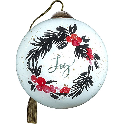 Precious Moments, Ne'Qwa Art Hand Painted Blown Glass Petite Round Shaped May Your Season