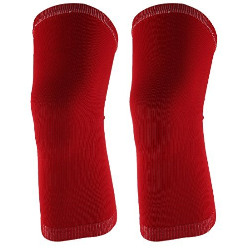DealMux Outdoor Sports Gym Elastic luva Knee Muscle Protector Suporte Brace Guarda 2pcs Red