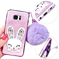 MOMDAD Souple Silicone Coque Samsung Galaxy S7 TPU Coque Samsung Galaxy S7 TPU Bumper Samsung Galaxy S7 Case de Protection TPU Silicone Samsung Galaxy S7 Neuf Absorption de Choc Coque de Protection en TPU Téléphone Mobile Case-Purple