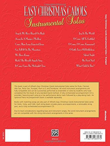 Amazon.com: Easy Christmas Carols Instrumental Solos: Trumpet ...