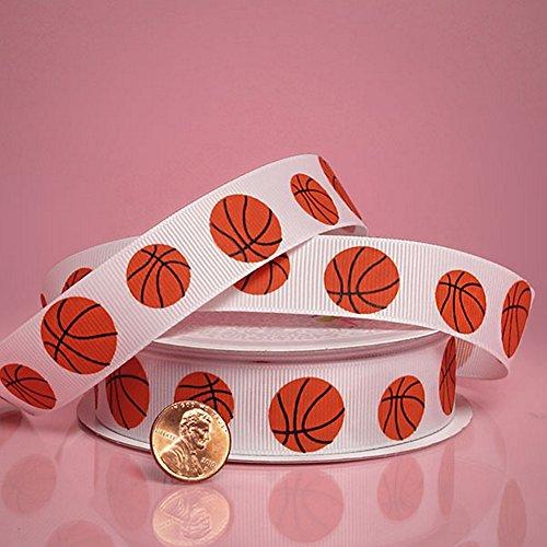 Basketballs Grosgrain Ribbon - 7/8in. Width - 10 Yard -
