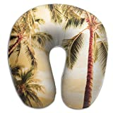 DMN U-Shaped Neck Pillow Hawaii Coconut Pillows Soft Portable For Travel Reading Sleeping