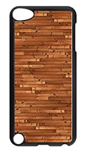 iPod Touch 5 Case, Wood Desk Texture Rugged Case Cover Protector for iPod Touch 5 / iPod 5th Generation PC Hardshell Case Black Black