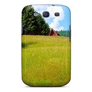 For Galaxy S3 Tpu Phone Case Cover(meadow With Flowers)