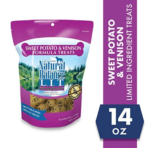 Natural Balance L.I.T. Limited Ingredient Dog Treats, Grain Free, Sweet Potato & Venison Formula, 14 oz (Packaging May Vary)