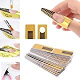 Tenworld 100Pcs Nail Art Tips Extension Forms Guide French DIY Tool Acrylic UV Gel