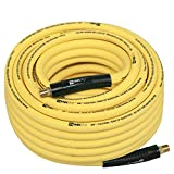 WYNNsky Hybrid Air Hose 3/8 in.X 100ft, 1/4'MNPT Fittings, 300 PSI Max Working Pressure,Non-Kinking, Lightweight, Flexible In Extreme Cold Weather, Excellent UV, Oil and Abrasion Resistant