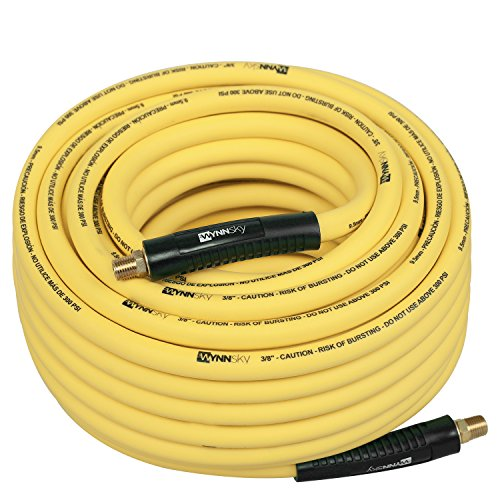 WYNNsky Hybrid Air Hose 3/8 in.X 100ft, 1/4