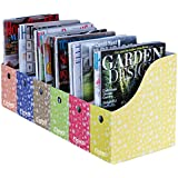 Evelots 6 Magazine/File Holders & Adhesive Labels,Assorted Color & Styles,Floral