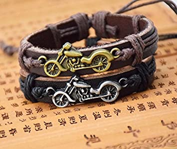 Mens leather bracelet AliExpress Harley-Davidson explosion models in Europe and America retro leather bracelet