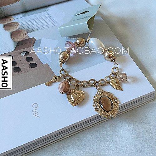 S rt custom shop vintage metal texture exclusive gem pearl bracelet female - Exclusive Pearl Bracelet
