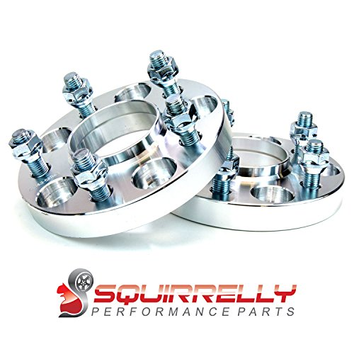 Squirrelly Hubcentric Wheel Spacers Adapters 5×114.3 / 12×1.5 / 67.1mm Center Bore / 20mm Thick (2 Pack)