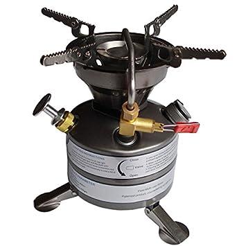 BRS-12 gasolina estufa de Camping cocina 2 - 3 Operaciones de campo: Amazon.es: Jardín