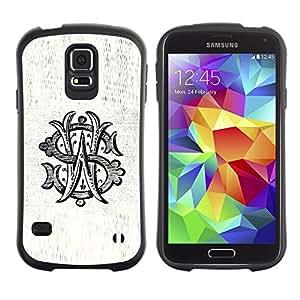 Paccase / Suave TPU GEL Caso Carcasa de Protección Funda para - W S initials letter calligraphy rustic old - Samsung Galaxy S5 SM-G900