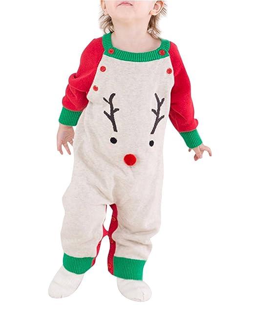 Unisex Bebé Niños Niñas Mameluco Pelele Para Navidad Romper Pared De Jerséis Traje Jersey: Amazon.es: Ropa y accesorios