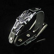 Alloy Bull influx of new ideas devil narrow black belt punk style bracelet jewelry bracelets for men and women neutral
