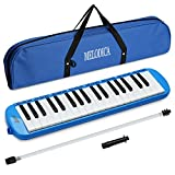 Lujex 32-Key Melodica,Entry Level Melodica Piano Portable Standard Tone Musical Education Instrument for 2+Years Old Kids/Beginner Gift with a Carrying Bag (Blue)