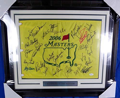 lti Signed Signed Auto Framed Golf Flag With 25 Signatures Including Arnold Palmer, Jack Nicklaus & Fred Couples - JSA Certified ()