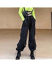 Dames Hiphop Broek, Overalls Gothic Cargo Pants vrouwen Koreaanse Harajuku Streetwear extra grote Waisted Loose Broeken Vrouw Goth