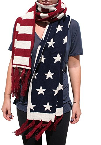 American Flag Scarves (Thick American Flag w/ - Team Store Usa