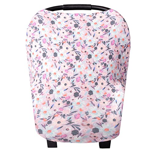 Baby Car Seat Cover Canopy and Nursing Cover Multi-Use Stretchy 5 in 1 GiftMorgan by Copper Pearl