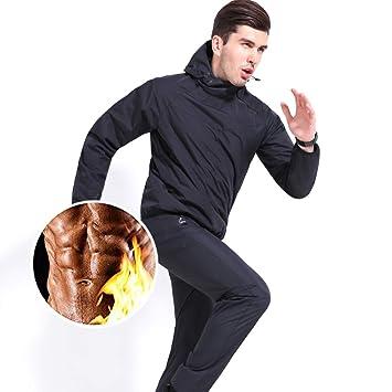 MINIRAH! Sauna Suit Hombres Traje de sudoración Fitness ...