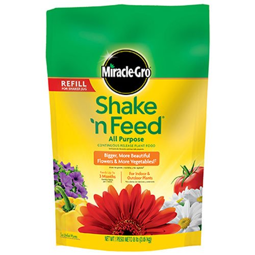 Slow Release Fertilizer (Miracle-Gro Shake 'n Feed Continuous Release All Purpose Plant Food, 8-Pound (Slow Release Plant Fertilizer))