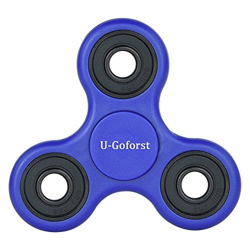 Price comparison product image U-Goforst Fidget Hand Spinner Ceramic Bearing Fidget Toy - Spins Last for 2mins (Blue)