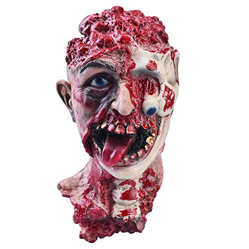 Halloween Severed Cut Off Head Scary Bloody Broken Body Parts Halloween Prank Props Decorations Bloody Head with Neck … (Halloween Part 10)