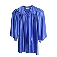 GradPlaza 2019 Unisex Kindergarten Choir Robe Shiny Gown Graduation Gown and Cap with Tassel Royal Blue
