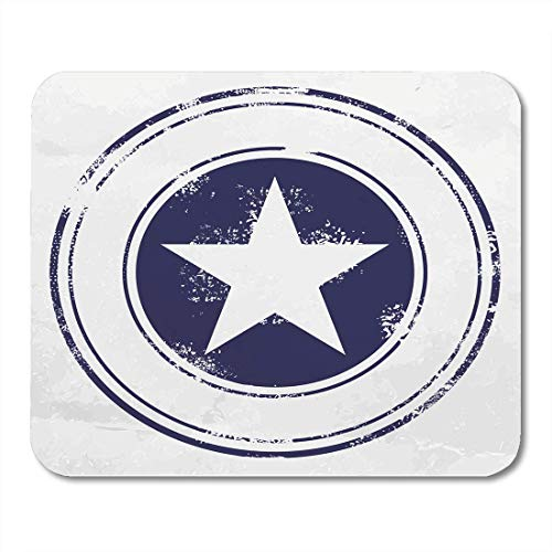 VANKINE Mouse Pads America Blue Stamp Five Pointed Star Captain Military Shield Sheriff Mouse pad 9.5