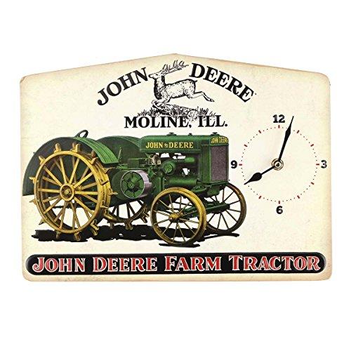 John Deere Embossed Metal Clock