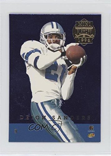 Deion Sanders; Andre Hastings (Football Card) 1996 Playoff Trophy Contenders - Mini Back-to-Backs - Hastings Mini