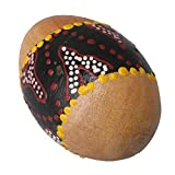 Mxfans Painted Sand Shaker Wooden Percussion Musical Egg Maracas Instrument Toy