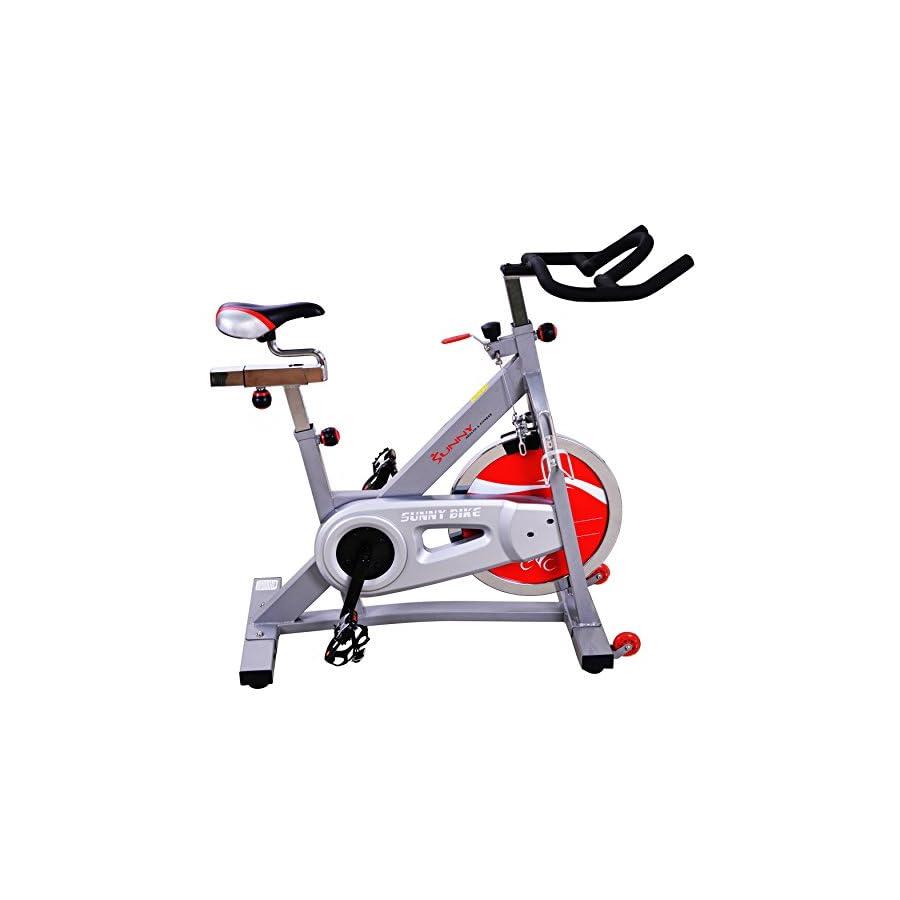 Sunny Health & Fitness SF B901B Belt Drive Indoor Cycling Bike