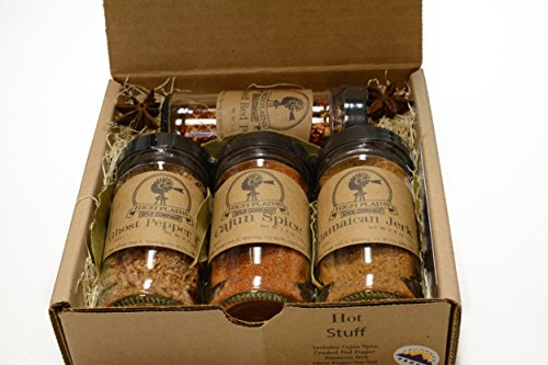 Hot Stuff Gift Set of 4 ~ Gift Set by High Plains Spice Company ~ Gourmet Meat and Veggie Spice Blends & Rubs For Beef, Chicken, Veggies & All Recipes ~ Spice Blends Handcrafted In Colorado, USA