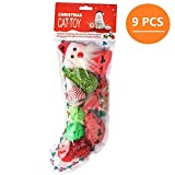 Christmas Cat Toys Set Variety Pack Stocking Toy for Kitten (9 Pieces) by KOOLTAIL