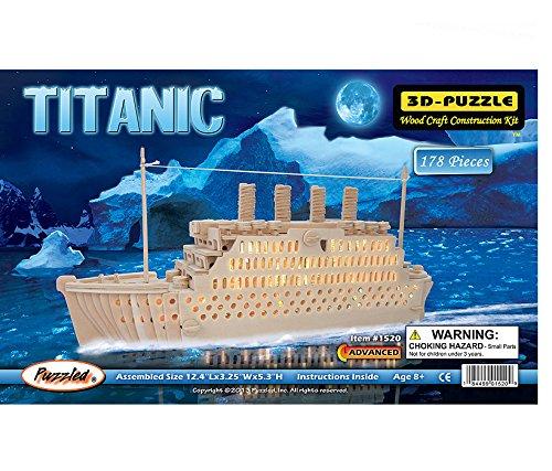 - Puzzled Titanic Wooden 3D Puzzle Construction Kit