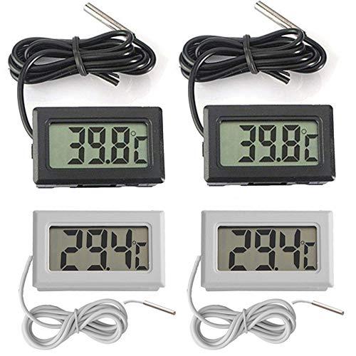 🥇 Thlevel 4X Monitor LCD de Temperatura con termómetro Digital y sonda Externa para refrigerador