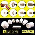 "INNOVANT 8 Piece Drill Kit Polishing & Buffing Set Cotton Pad Polishers Best Polisher & Buffer Pads - Recessed Detailing & Automotive Wheel Car Wax Clean Buff Shine Polish 3/8"" Inch No Slip Hex Shank"