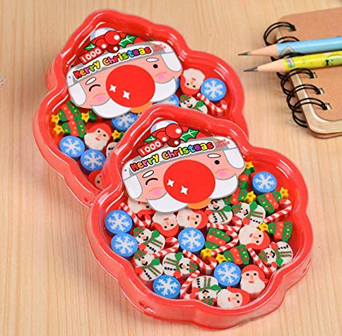 Fun School Prizes School Supplies Gift 30 Pieces Novelty Erasers,Christmas Gifts for Kids,Great Party Favors