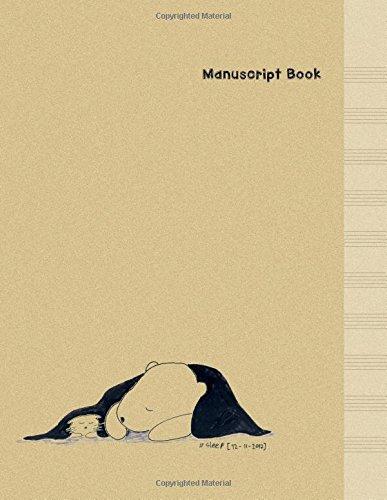 Read Online Manuscript Paper: Cat & Bear - Minimal Design Music Manuscript Book -  Large (8.5 x 11 inches) - 10 Staves, 100 Pages (manuscript notebook, blank ... Cat & Bear Manuscript Paper Book) (Volume 3) PDF